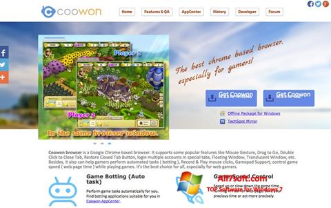 Képernyőkép Coowon Browser Windows 7