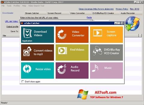 Képernyőkép aTube Catcher Windows 7