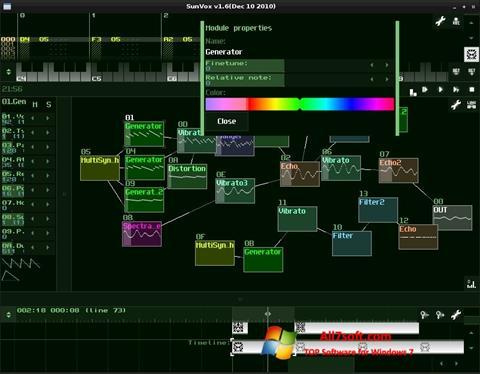 Képernyőkép SunVox Windows 7