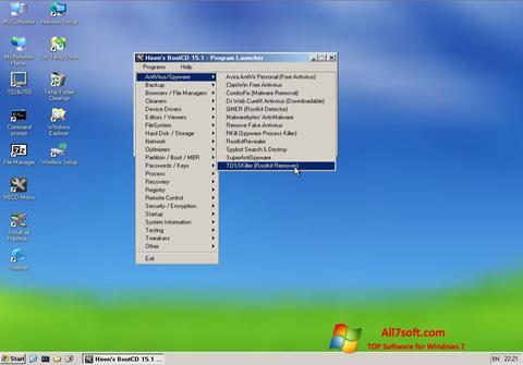 Képernyőkép Hirens Boot CD Windows 7