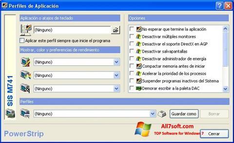 Képernyőkép PowerStrip Windows 7