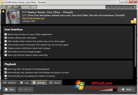Képernyőkép Screamer Radio Windows 7