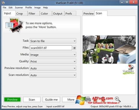 Képernyőkép VueScan Windows 7