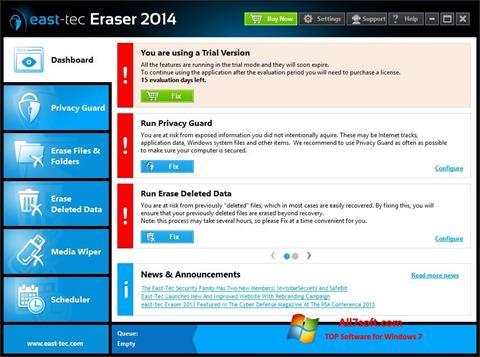Képernyőkép East Tec Eraser Windows 7