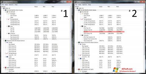 Képernyőkép Open Hardware Monitor Windows 7