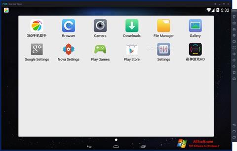 Képernyőkép Nox App Player Windows 7