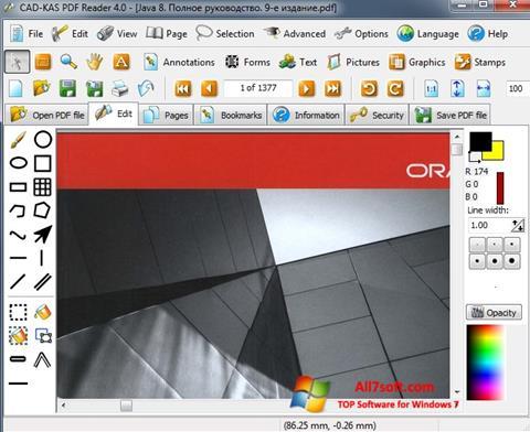 Képernyőkép PDF Reader Windows 7