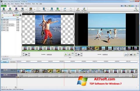Képernyőkép VideoPad Video Editor Windows 7