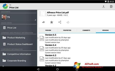 Képernyőkép Alfresco Windows 7