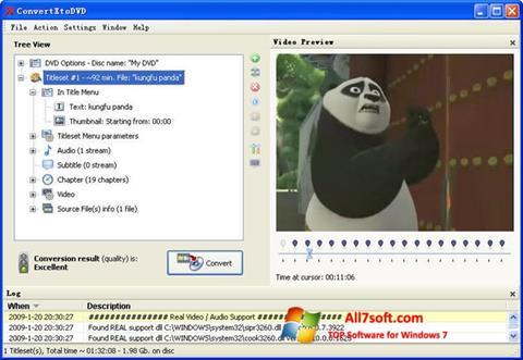 Képernyőkép ConvertXToDVD Windows 7