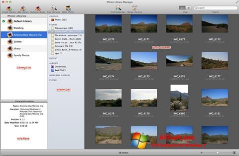 Képernyőkép iPhoto Windows 7