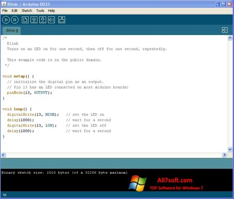 Képernyőkép Arduino Windows 7