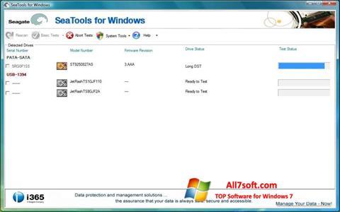 Képernyőkép Seagate SeaTools Windows 7