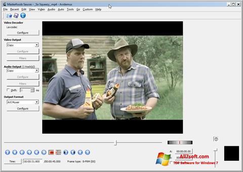 Képernyőkép Avidemux Windows 7