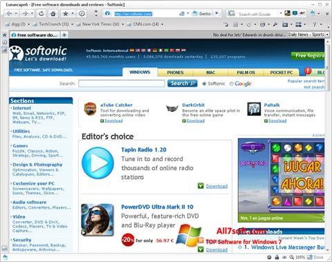Képernyőkép Lunascape Windows 7