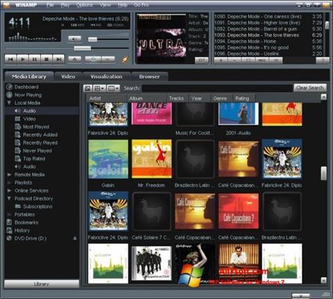 Képernyőkép Winamp Windows 7