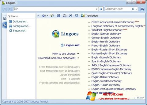 Képernyőkép Lingoes Windows 7