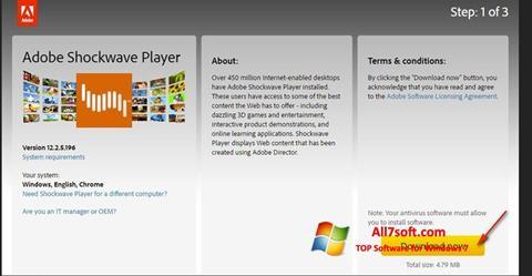 Képernyőkép Adobe Shockwave Player Windows 7