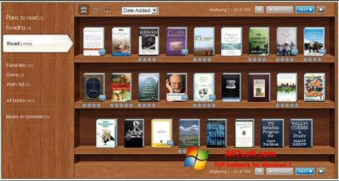 Képernyőkép Bookshelf Windows 7