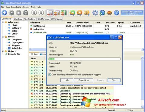 Képernyőkép Download Master Windows 7