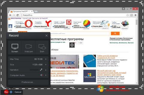 Képernyőkép Screencast-O-Matic Windows 7