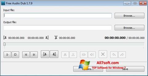 Képernyőkép Free Audio Dub Windows 7