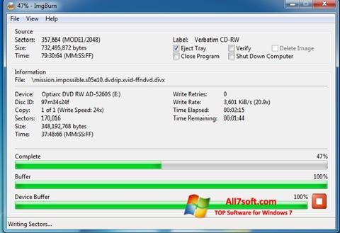Képernyőkép ImgBurn Windows 7
