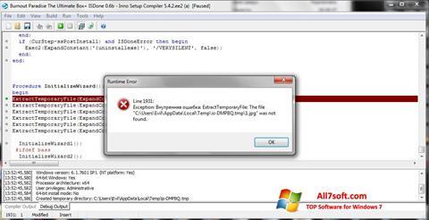 Képernyőkép Inno Setup Windows 7