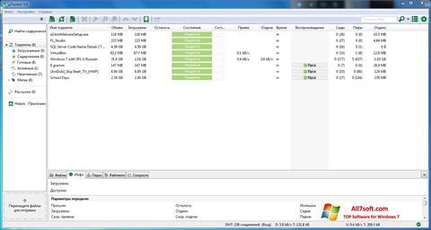 Képernyőkép uTorrent Windows 7
