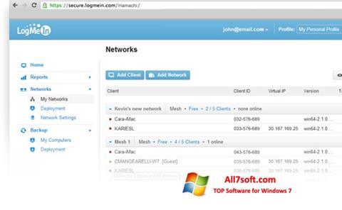 Képernyőkép Hamachi Windows 7
