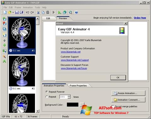 Képernyőkép Easy GIF Animator Windows 7