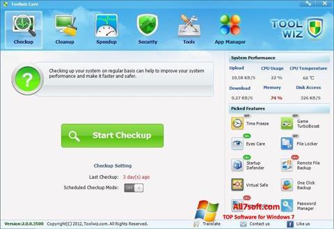 Képernyőkép Toolwiz Care Windows 7