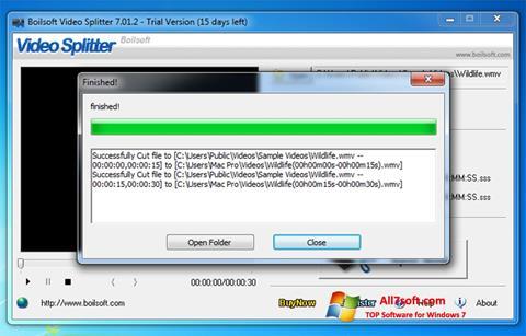 Képernyőkép Boilsoft Video Splitter Windows 7