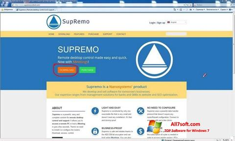 Képernyőkép Supremo Windows 7