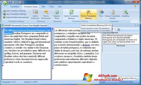 Képernyőkép PROMT Windows 7