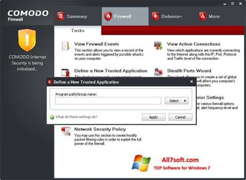 Képernyőkép Comodo Firewall Windows 7