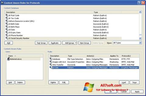 Képernyőkép DeviceLock Windows 7