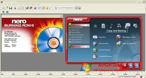 Képernyőkép Nero Burning ROM Windows 7
