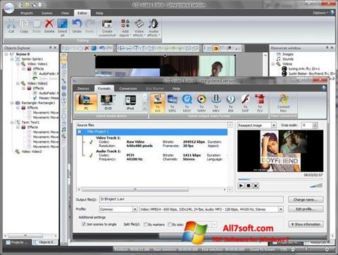 Képernyőkép Free Video Editor Windows 7