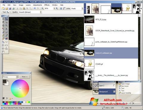 Képernyőkép Paint.NET Windows 7
