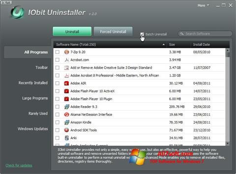 Képernyőkép IObit Uninstaller Windows 7