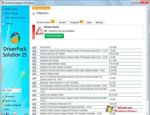 Képernyőkép DriverPack Solution Windows 7