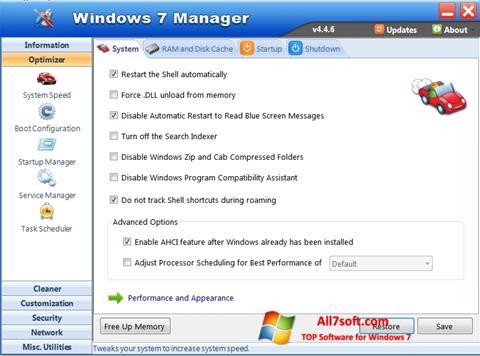 Képernyőkép Windows 7 Manager Windows 7