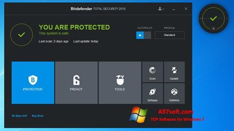 Képernyőkép Bitdefender Windows 7