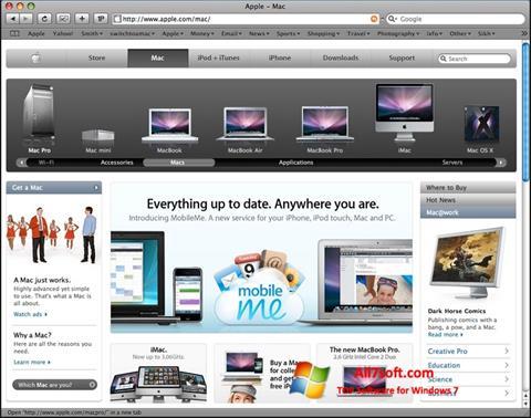 Képernyőkép Safari Windows 7