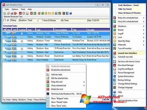 Képernyőkép Auto ShutDown Windows 7
