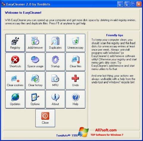 Képernyőkép EasyCleaner Windows 7