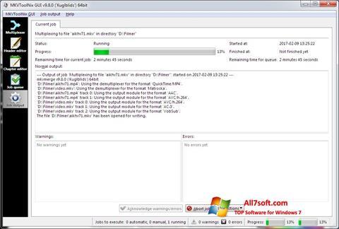Képernyőkép MKVToolnix Windows 7