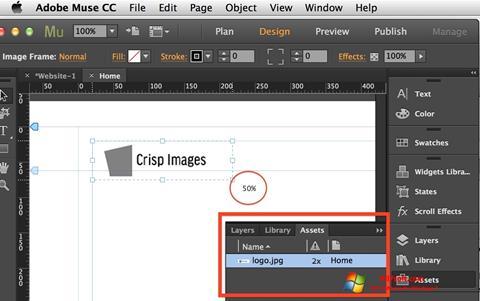 Képernyőkép Adobe Muse Windows 7