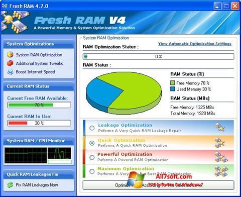 Képernyőkép Fresh RAM Windows 7